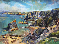 Clem St John Webster<br>Bedruthan Steps